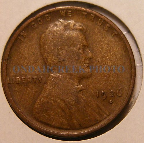 1926-D Lincoln Cent VG Woody
