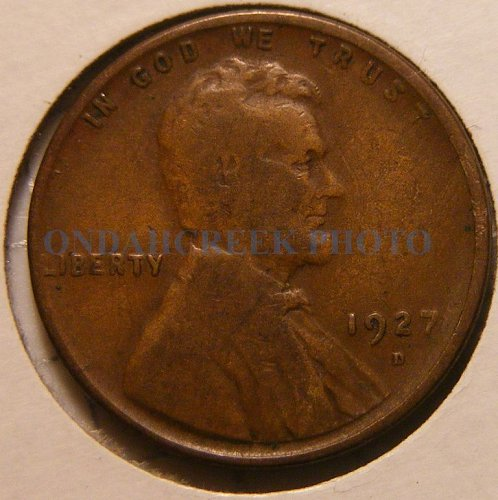 1927-D Lincoln Cent VG