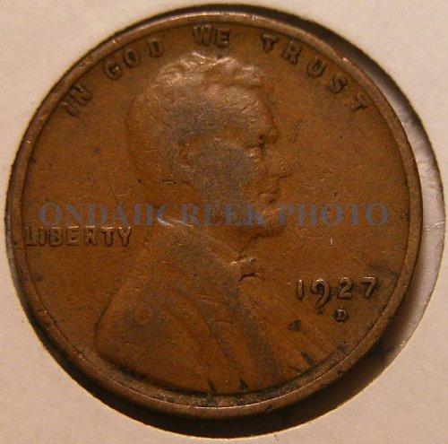 1927-D Lincoln Cent Fine