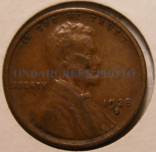 1928-S Lincoln Cent VF Large S FS-501 (013.6)