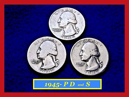 1945-PDS Washington Quarters ⭕️ Circulated    (#2273)