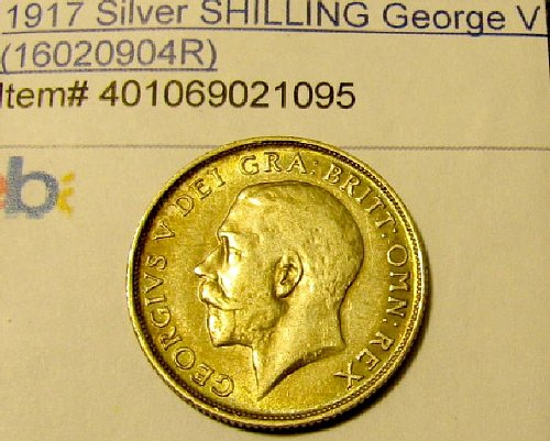UK-British 1917 WW 1 Silver Schilling George V- Reduced 15%  //