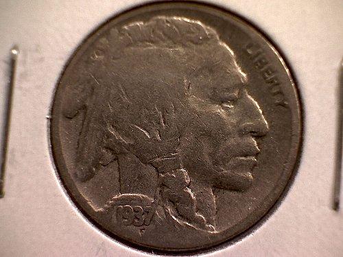 1937 P Buffalo Nickel