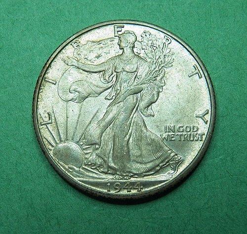 1944 D Walking Liberty Half Dollar AU-BU Coin   g49