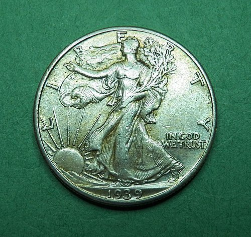 1939 P Walking Liberty Half Dollar XF-AU Coin   g60
