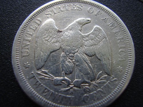 1875s Twenty Cent Coin, Seated Liberty 1875 s Twenty Cent