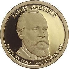 2011 D   JAMES A. GARFIELD   GOLDEN DOLLAR