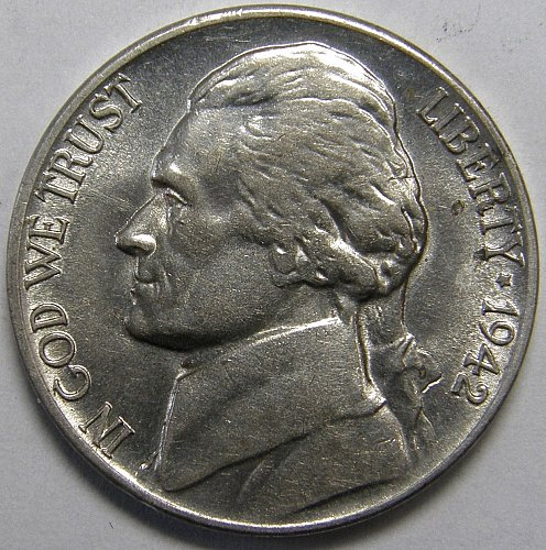 1942 P Jefferson Nickel #1  Type 2