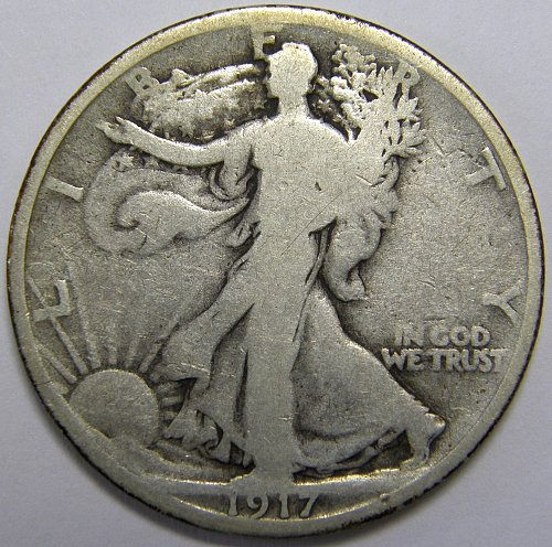 1917 P Walking Liberty Half Dollars #1LE