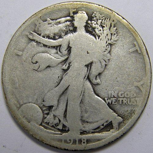 1918 P Walking Liberty Half Dollars #1LE