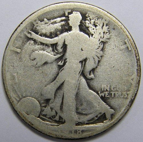 1918 S Walking Liberty Half Dollar #1LE
