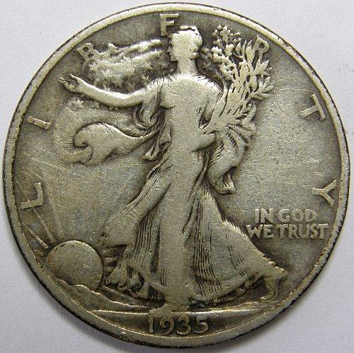 1935 S Walking Liberty Half Dollars #1LE