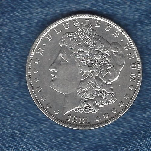 1881-O  Silver Morgan Dollar -EF Condition