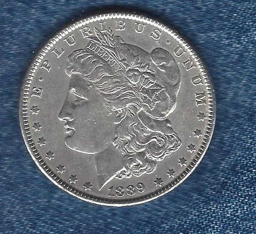 1889 Silver Morgan Dollar - E/F Condition