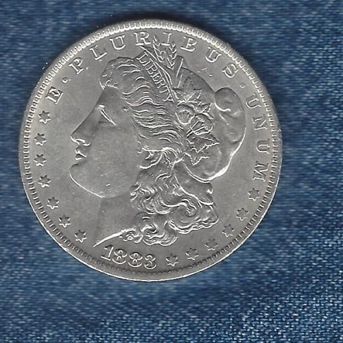1883-0  Silver Morgan Dollar - E/F Condition