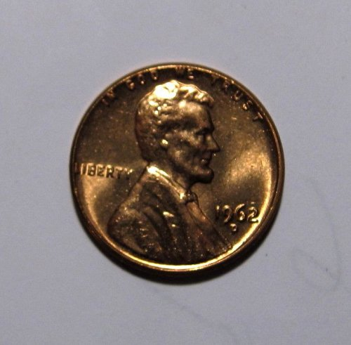 1962 D LINCOLN MEMORIAL CENT ERROR RPM UNCIRCULATED FROM OBW