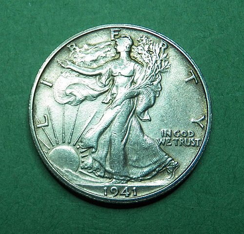1941 S Walking Liberty Half Dollar  Extra Fine Coin   g63
