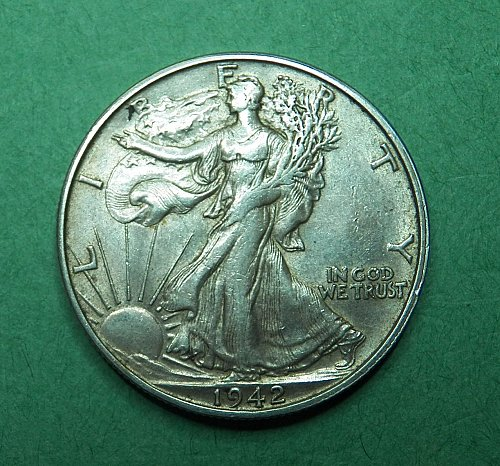 1942 S Walking Liberty Half Dollar XF-AU Coin   g64
