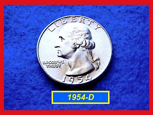 1954-D Washington SILVER Quarter   (#2242)