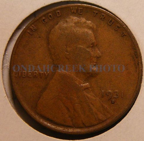 1931-D Lincoln Cent VG