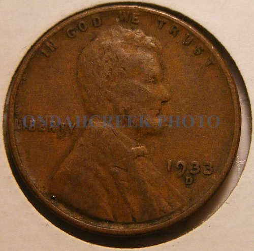1933-D Lincoln Cent VG