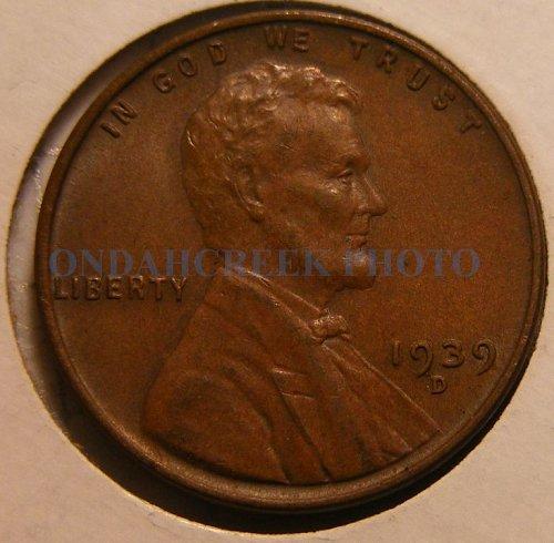1939-D Lincoln Cent AU