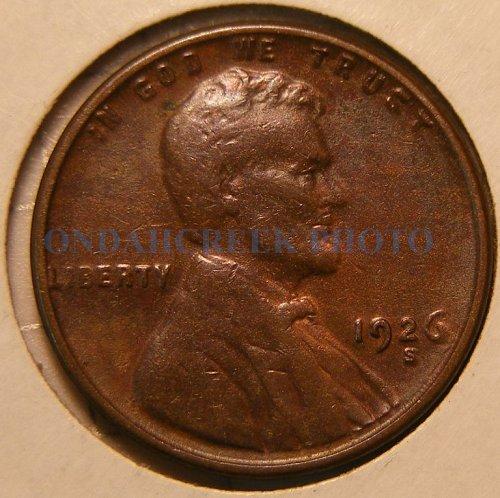 1926-S Lincoln Cent VF Die Clash Error