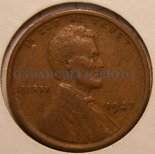 1927 Lincoln Cent VF with lamination error