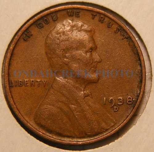 1938-D Lincoln Cent XF RPM #3 Best of Variety