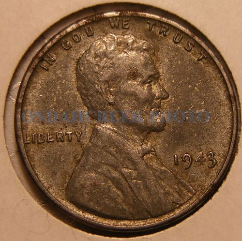 1943 Lincoln Cent XF Doubled Die Obverse DDO-005