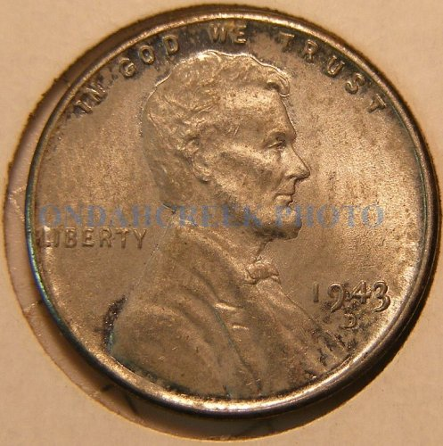 1943-D Lincoln Cent BU Doubled Die Obverse plus Die Break Errors