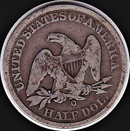 1858 O STEATED LIBERTY HALF DOLLAR 50C(176) VG Details