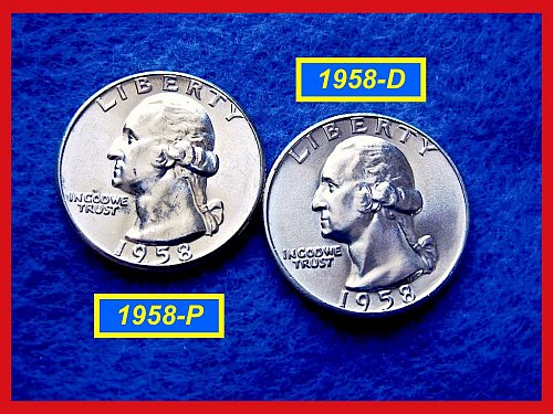 1958-P & 1958-D Washington Quarters UNCIRCULATED    (#2343)