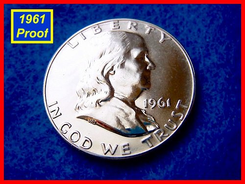 1961-Proof  Franklin Half Dollar • • • (#1322)