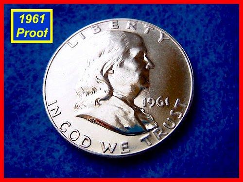 1961-Proof  Franklin Half Dollar •••(#1322)