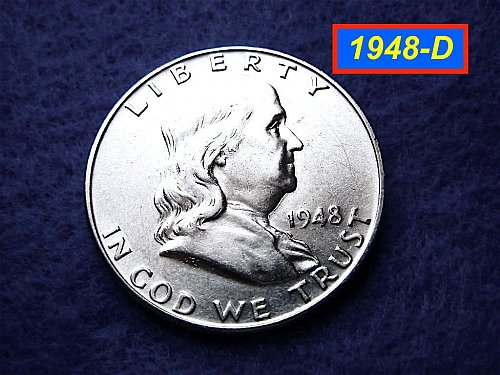 1948-D Franklin Half Dollar ––– Strong Bell Lines  (#1395)