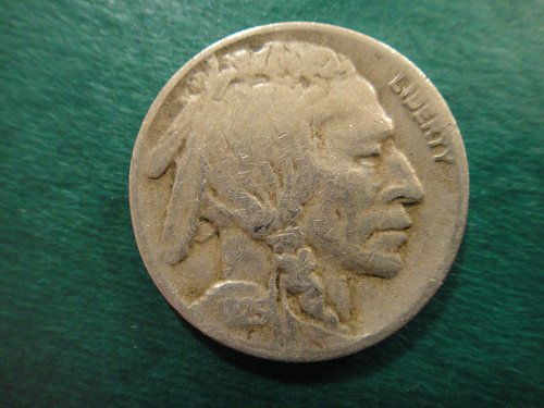 1925-D Buffalo Nickel Very Fine-20 Nice Better Than Average Strike!