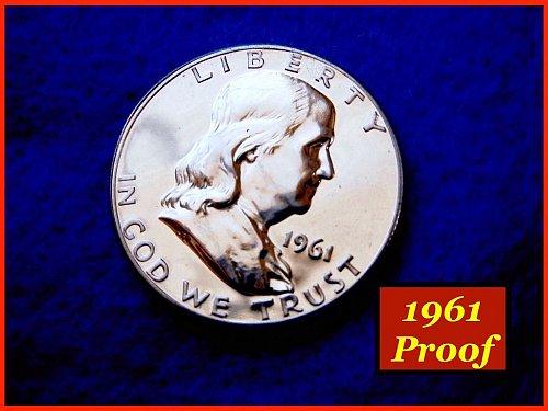 1961-Proof  Franklin Half Dollar •••(#1383)