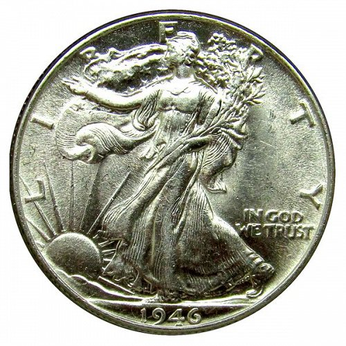 1946 P Walking Liberty Half Dollar - Choice BU
