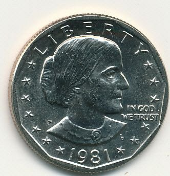1981P Susan B. Anthony dollar