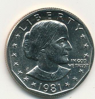 1981P Susan B. Anthony dollar