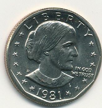 1981D Susan B. Anthony dollar
