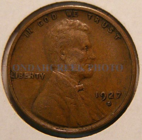 1927-D Lincoln Cent XF