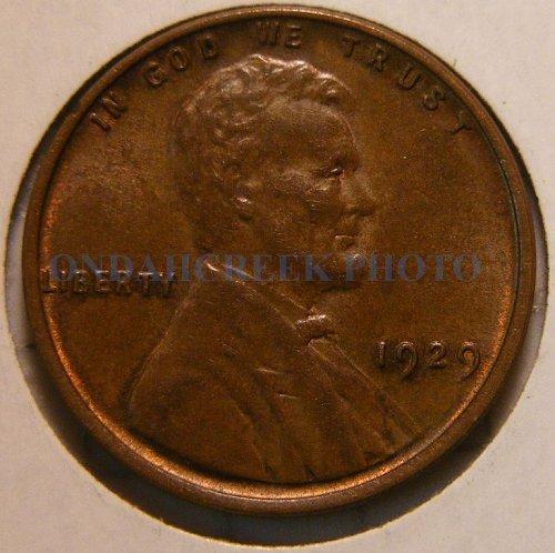 1929 Lincoln Cent AU