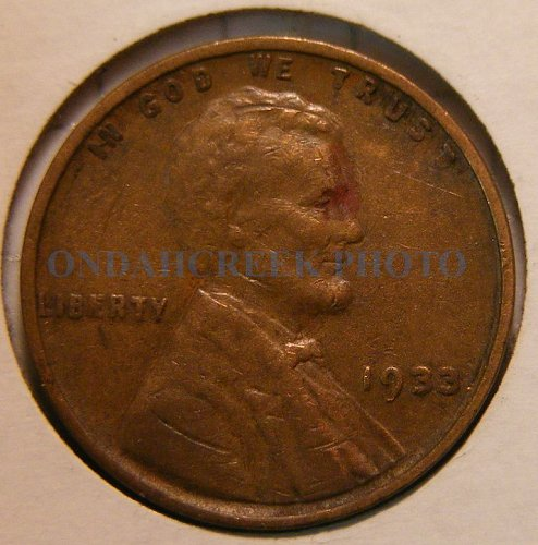 1933 Lincoln Cent CH VF