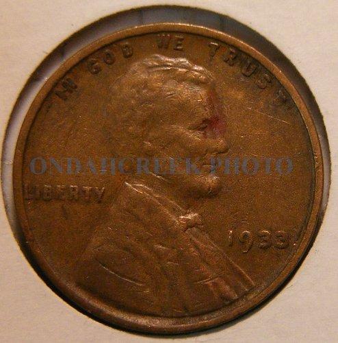 1933 Lincoln Cent CH VF