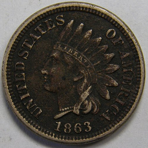 1863 Indian Head Cent #16