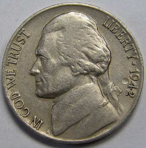 1942 D Jefferson Nickel #5