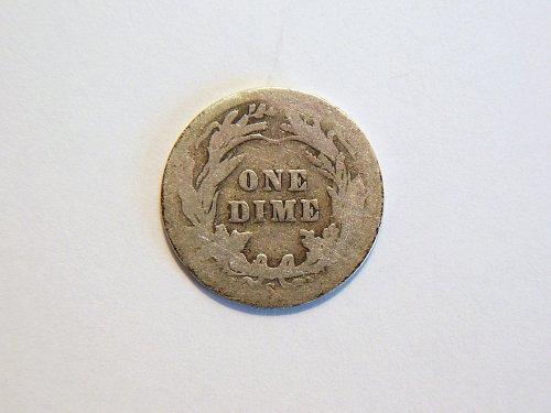 1908-S Silver Barber Dime