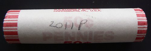 2011 P Lincoln Shield Cents Roll